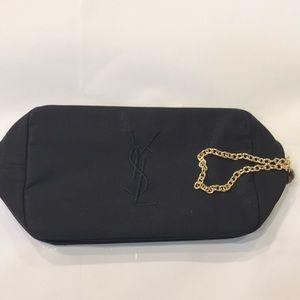 Yves Saint Laurent Black Cosmetics Bag.